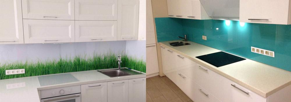 зеленые скинали на белой кухне