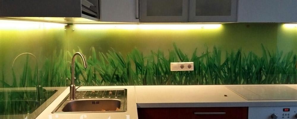 зеленые скинали травы с подсветкой
